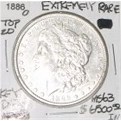 1886-O EXTREMELY RARE *TOP 20* MORGAN SILVER DOLLAR RED BOOK VALUE IS $6500.00 RARE KEY  MS-63 GRADE