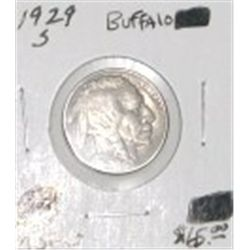 1929-S BUFFALO NICKEL RED BOOK VALUE IS $65.00 *EXTREMELY RARE MS-60 HIGH GRADE*!!