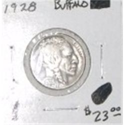 1928 BUFFALO NICKEL RED BOOK VALUE IS $23.00 *RARE KEY DATE EXTRA FINE GRADE* !!