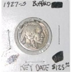 1927-S BUFFALO NICKEL RED BOOK VALUE IS $125.00 *RARE KEY DATE EXTRA FINE GRADE*!!