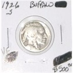 1926-S BUFFALO NICKEL RED BOOK VALUE IS $500.00 *EXTREMELY RARE KEY DATE VERY FINE GRADE*!!