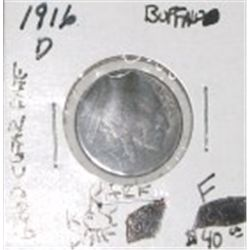 1916-D BUFFALO NICKEL RED BOOK VALUE IS $40.00 *EXTREMELY RARE KEY DATE FINE GRADE* BUFF OUT OF SAFE