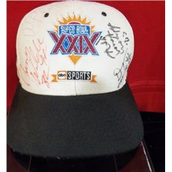 1995 Super Bowl 24 Hat Signed by Team