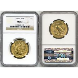 1926 $10 Indian NGC MS62