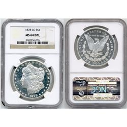 1878-CC S$1 Morgan NGC MS64 Deep Proof Like Morgan