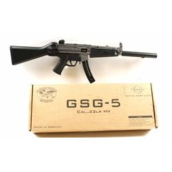 GSG Mdl GSG-5 Cal .22 SN:A308135German made semi auto rimfire rifle based on  H&K MP5, 1st anniversa