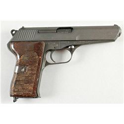 CZ Mdl 1952 Cal 7.62mm SN:T11670Czech made semi auto pistol made for the  Czech Army, black finish w