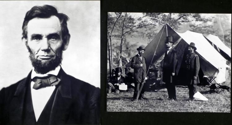 2 photos civil war abraham lincoln ulysses s grant 2 photos civil war abraham lincoln ulysses s grant loading zoom publicscrutiny Images