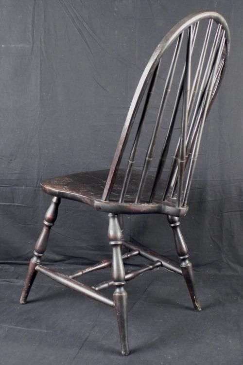 ... Image 3 : Antique Wooden Spindle Back Chair ... - Antique Wooden Spindle Back Chair