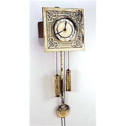 An arts and crafts brass wall clock possibly scottish in for Arts and crafts clocks for sale
