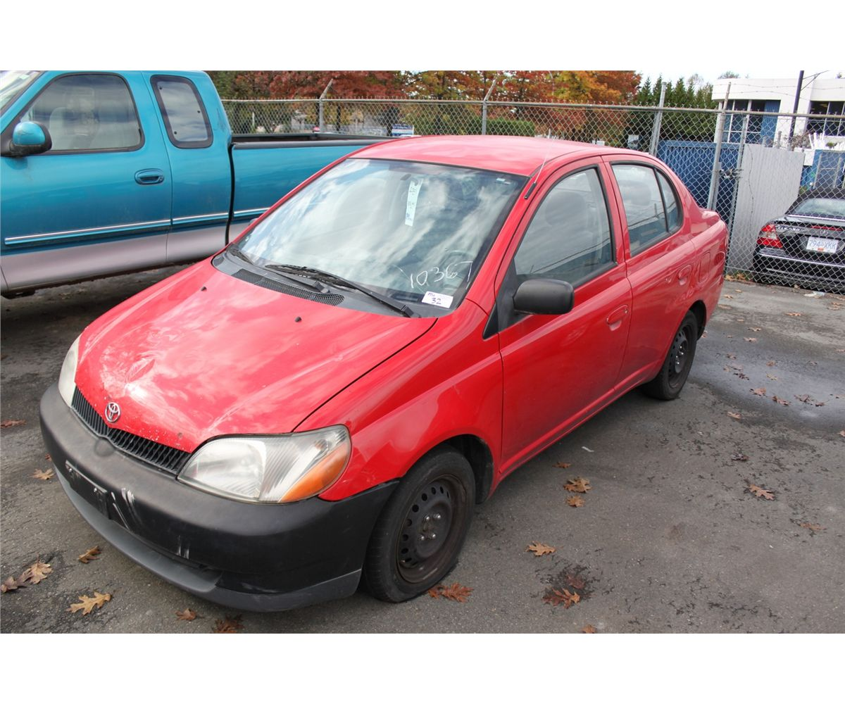 Image 1 2001 red toyota echo 4dr sdn gas 1 5l automatic