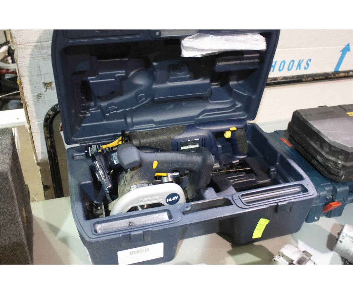 mastercraft cordless tool set bosch jig saw able auctions. Black Bedroom Furniture Sets. Home Design Ideas