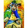 #64 SEATED OLD MAN PICASSO ESTATE SIGNED GICL&#201;E