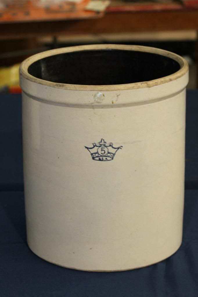 5 Gallon Crown Stoneware Crock