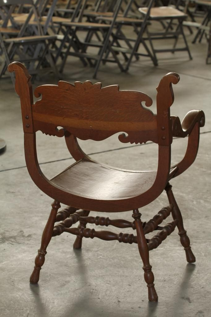 Image 4 : Antique Chair with Carved Face. - Antique Chair With Carved Face.