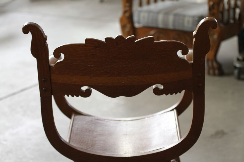 Image 5 : Antique Chair with Carved Face. - Antique Chair With Carved Face.