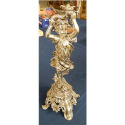 Antique Silver Statue Candle Holders