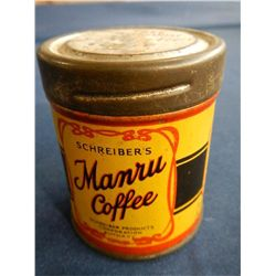 Schreiber's Manru Coffee Salesman Sample