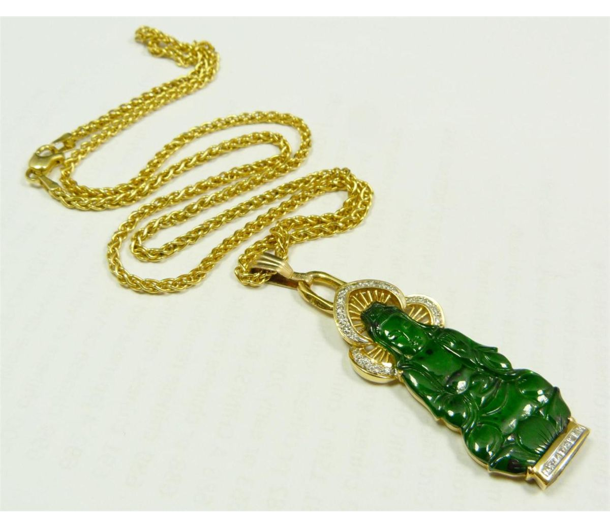 Chinese gold diamond jade quan yin pendant thecheapjerseys Gallery