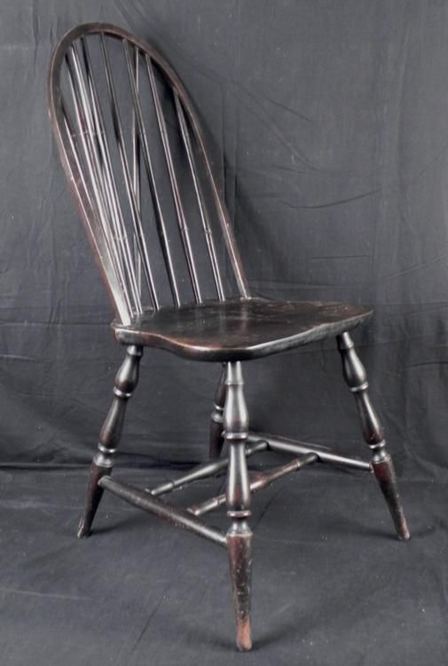 ... Image 2  Antique Wooden Spindle Back Chair ... & Antique Wooden Spindle Back Chair