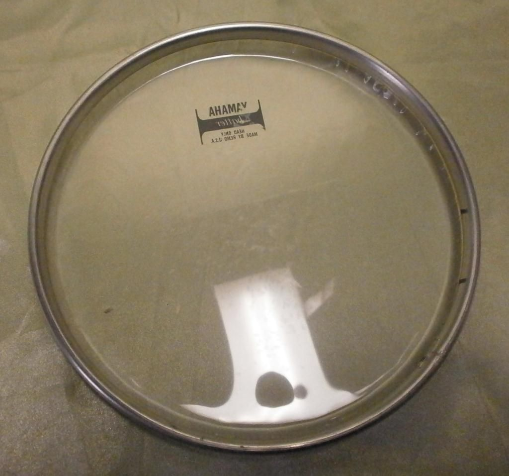 5 lightly used yamaha drum heads assorted sizes