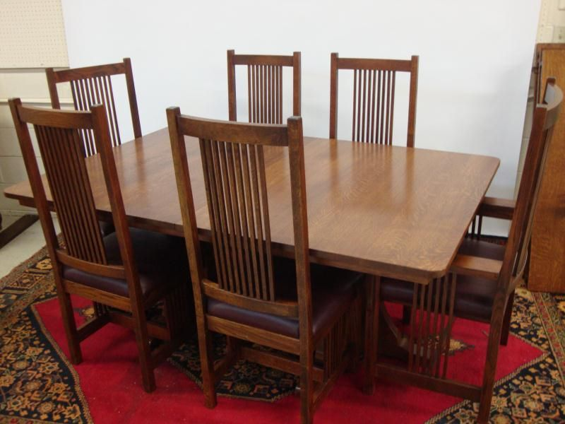 Incroyable Image 1 : HARVEST HOUSE CRAFTSMEN MISSION OAK DINING SET