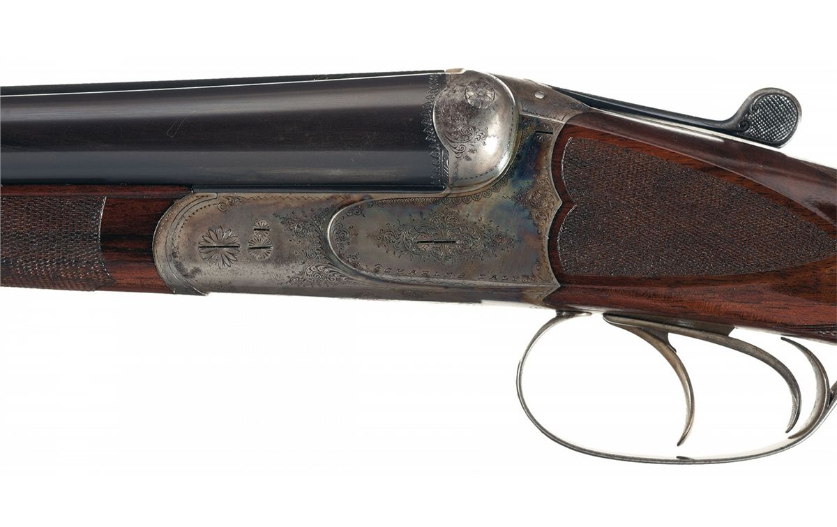 ... Image 2 : Engraved Prussian Charles Daly Side by Side 20 Gauge Shotgun