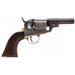 Hightly Desirable Colt Wells Fargo Model 1849 Pocket Revolver with Inscribed Backstrap