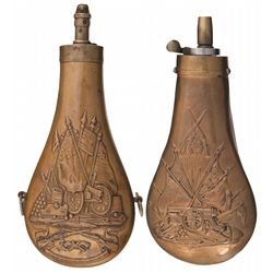Two Colt Powder Flasks