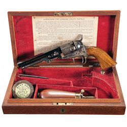 Exceptional Factory Cased Colt London Model 1849 Pocket Revolver