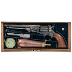 Cased Colt Model 1851 London Navy Percussion Revolver with Accessories