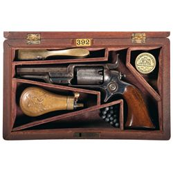 "Cased First Year Production Colt Model 1855 ""Root"" Pocket Revolver with Accessories"