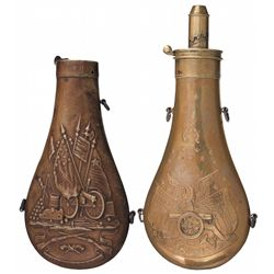 Two Powder Flasks