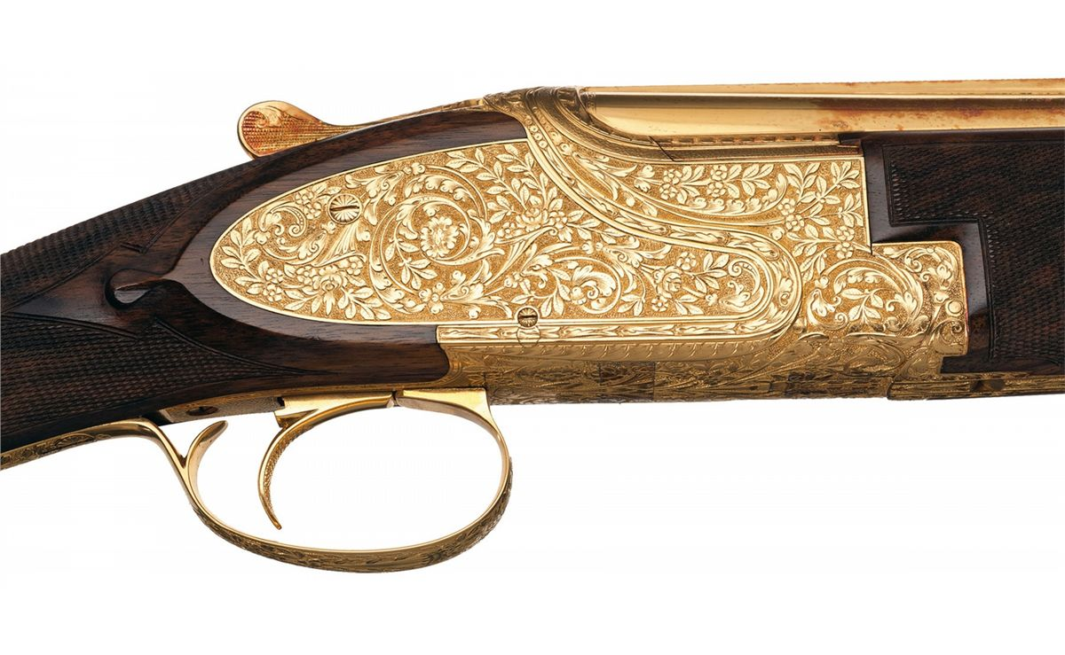 Dierckx Signed Engraved Gold Plated Browning Superposed ...