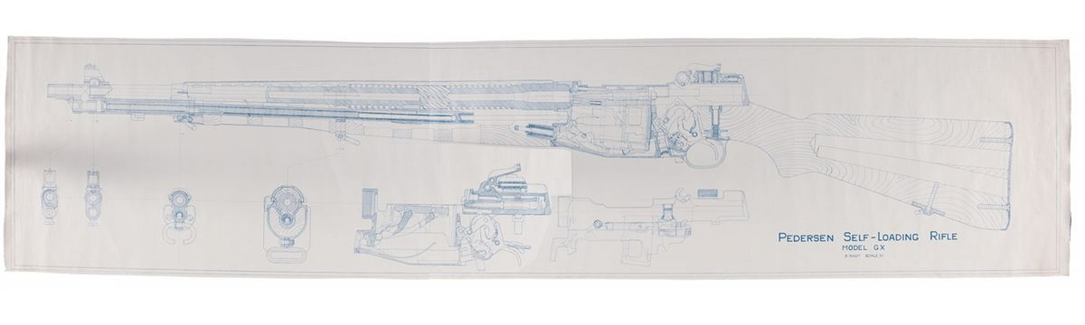 Historic blueprint engineering drawing of the pedersen self loading historic blueprint engineering drawing of the pedersen self loading rifle loading zoom malvernweather Images
