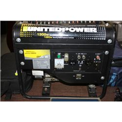 PAWN SHOP  UNITED POWER 1300 WATT GAS GENERATOR