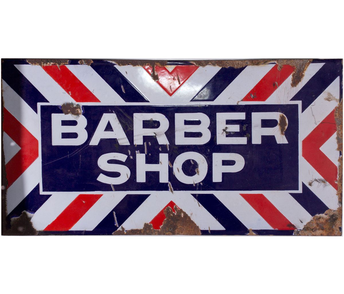 Antique barber shop sign - Antique Barber Shop Sign 17
