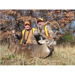 Private 5-day whitetail hunt with Craig Boddington for one hunter and one non-hunter at his farm in