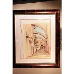 Tannous Signed Limited Edition Lithograph - Via Dolorosa
