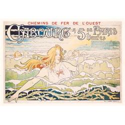 Lot 425: Belgian Art Nouveau Beach Travel Poster