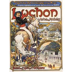 Lot 473: French Art Nouveau Railroad Travel Poster