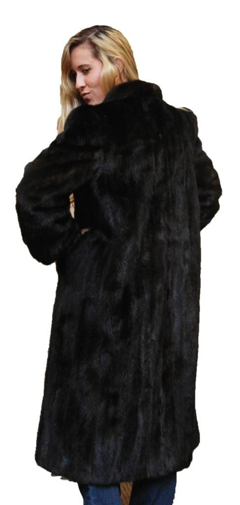 FADEN FURS BROWN MINK FUR COAT WITH 3 SHAWLS