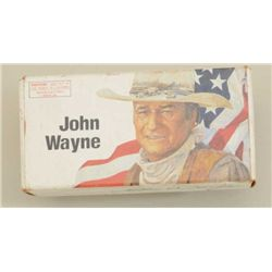 Box of 32-40 Commemorative John Wayne ammo by  Winchester. Some aging and handling to box.  Full. Es