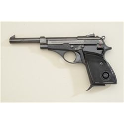 Beretta Model 71 semi-auto pistol, .22LR  cal., blue finish, checkered black plastic  grips, #B45916