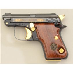 Beretta Model EL 950 BS pistol, .25 cal.,  blue finish, gold accenting, wood grips,  #BR51378V in ex
