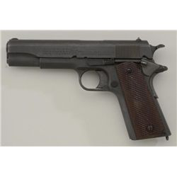 Colt 1911 U.S. Property marked semi-auto  pistol, .45 ACP cal., #N016485; Remington-UMC  markings, r