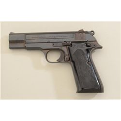 "French MAB Model PA-15 semi-auto pistol, 9mm  cal., 4-1/2"" barrel, blue finish, checkered  hard rubb"