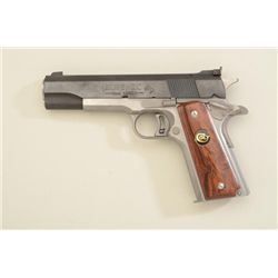 Scarce Colt Elite IX Gold Cup National Match  9mm Luger cal, blue and stainless, #IX072;  near excel