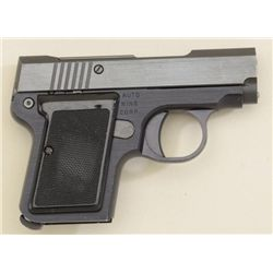 Auto Nine Corp. semi-auto pocket pistol,  .22LR cal., black finish, checkered plastic  grips, action