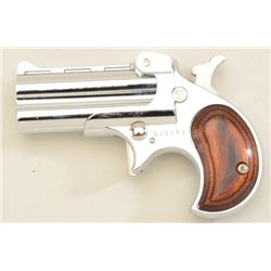 Davis O/U derringer, Model OM-22, .22 Mag.  cal., nickel finish, wood grips, #025963 in  like new co